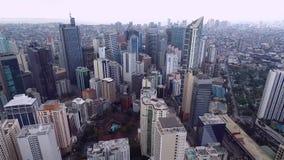 Ville de Makati à Manille, Philippines banque de vidéos