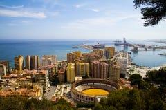 Ville de Malaga Photos stock