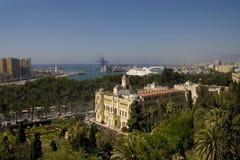 ville de Malaga de hall Photo stock