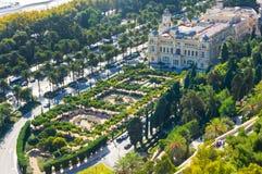 Ville de Malaga, Espagne Image libre de droits