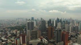 Ville de Manille, la capitale des Philippines banque de vidéos