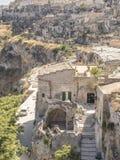 Ville de Matera en Italie Photo libre de droits