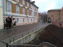 Ville de matin de Varsovie vieille image stock