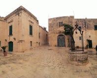 Ville de Mdina sur l'île de Malte Photographie stock libre de droits