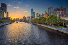 Ville de Melbourne Photos stock