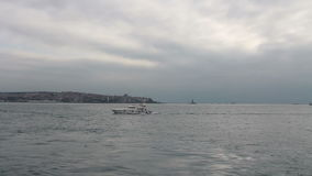Ville de mer voyageant, Istanbul, décembre 2016, la Turquie banque de vidéos