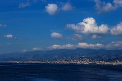 Ville de Messine, Sicile Photo libre de droits