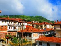 Ville de Metsovo en Grèce Photographie stock