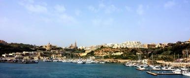 Ville de Mgarr, île Gozo, Malte image libre de droits
