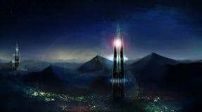 Ville de montagne Images libres de droits
