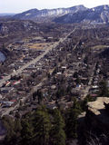 Ville de montagne photo stock