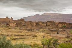 Ville de montagne d'atlas, Maroc Images stock