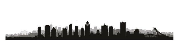 Ville de Montréal, horizon de Canada Points de repère canadiens Archite urbain illustration stock