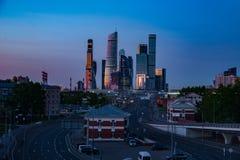 Ville de Moscou de centre d'affaires images libres de droits