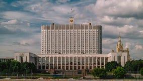Ville de Moscou Construction de logements blanche, temps-faute Élite politique russe banque de vidéos
