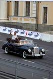 Ville de Moscou de la Bavière emballant 2010, Jenson Button Images libres de droits