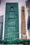 Ville de Moscou Le centre des affaires en Russie Conduction des transactions financières MOSCOU RUSSIE Photographie stock libre de droits
