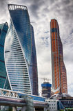 Ville de Moscou Le centre des affaires en Russie Conduction des transactions financières MOSCOU RUSSIE Photos stock
