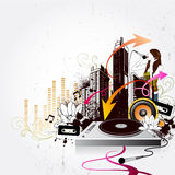 Ville de musique Photos stock