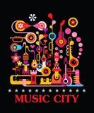 Ville de musique illustration libre de droits