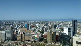 Ville de Nagoya dans le matin photographie stock libre de droits