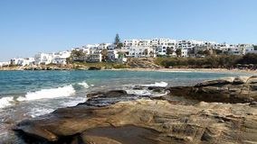 Ville de Naoussa en île de Paros banque de vidéos