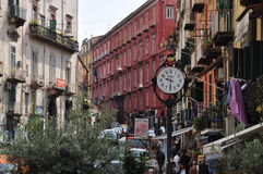 Ville de Naples, vue de rue photos libres de droits