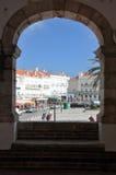Ville de Nazare, Portugal Photographie stock libre de droits