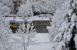 Ville de neige Photos stock
