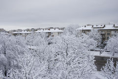 Ville de neige Images libres de droits