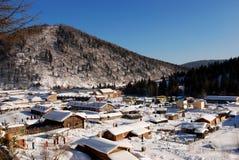 ville de neige, forêt jumelle de Xuexiang de crêtes Image libre de droits