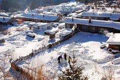 ville de neige, forêt jumelle de Xuexiang de crêtes Photo stock