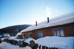 ville de neige, forêt jumelle de Xuexiang de crêtes Images libres de droits