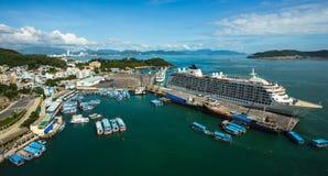 Ville de Nha Trang, vue du funiculaire de Vinpearl Images libres de droits