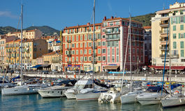 Ville de Nice - architecture de Port de Nice Photos libres de droits