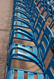 Ville de Nice - chaises sur Promenade des Anglais Image stock