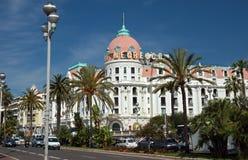 Ville de Nice - hôtel Negresco Photo libre de droits