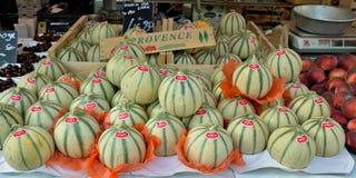 Ville de Nice - melons sur un marché en plein air Photo libre de droits