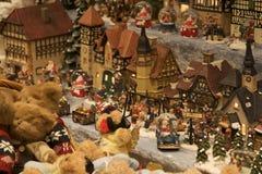 Ville de Noël Photo stock