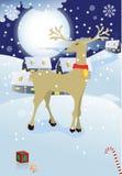 Ville de Noël illustration stock