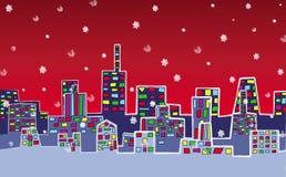 Ville de Noël Images libres de droits