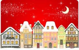 Ville de Noël Photographie stock libre de droits