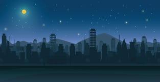 Ville de nuit Image libre de droits