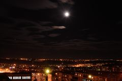 Ville de nuit photo stock