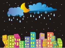 Ville de nuit illustration de vecteur