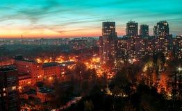 Ville de nuit St Petersburg Images libres de droits