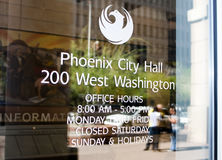 Ville de Office de Phoenix Arizona de maire Image stock