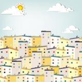 Ville de panorama Images libres de droits