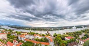 Ville de panorama dans l'après-midi Photo libre de droits