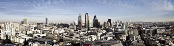 Ville de panorama de Londres Photographie stock libre de droits
